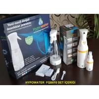 Hypowater FQB610 Taşınabilir Elektrolize Dezenfekte Edici Hijyen Su (Hipokloröz asit içerikli) Üretim Cihazı (400ml-USB besleme-Tetikleme sprey başlık)