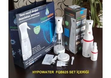 Hypowater FQB625 Taşınabilir Elektrolize Dezenfekte Edici Hijyen Su (Hipokloröz asit içerikli) Üretim Cihazı (400ml-kablosuz besleme-Mikropartiküler sprey başlık)