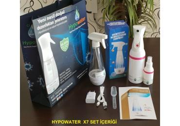Hypowater X7 Taşınabilir Elektrolize Dezenfekte Edici Hijyen Su (Hipokloröz asit içerikli) Üretim Cihazı (300ml)