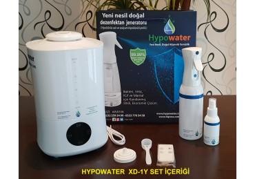 Hypowater XD-1Y Hava Dezenfeksiyon ve Taşınabilir Elektrolize Dezenfekte Edici Hijyen Su (Hipokloröz asit içerikli) Üretim Cihazı (4lt -3 farklı elektroliz ve buhar hızı kademeli)
